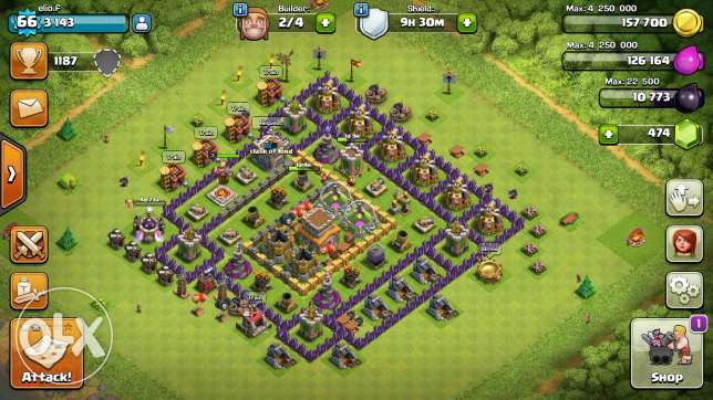 Clash of clans towhal 8 /7 عكار -  6