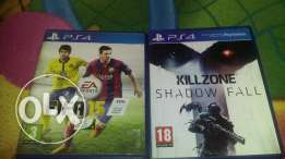 FIFA15+Killzone shadow fall (PS4)