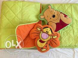Double sided bed cover for single bed with 2 pillows For Boys