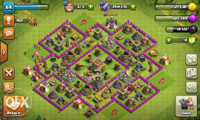 clash of clans game town hall 8