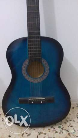 Guitar (black and blue) + free case