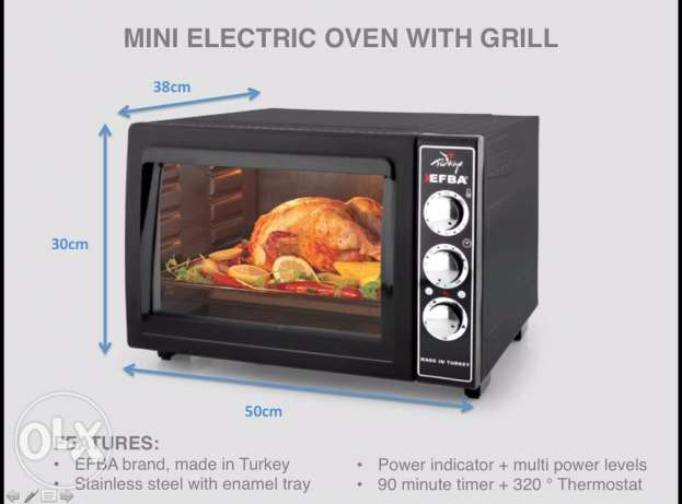 mini electric oven with grill