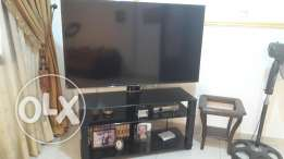 Tv with table used for 2 months only
