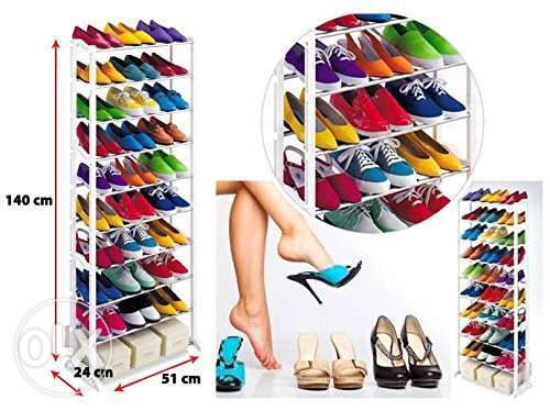 Amazing Shoe Rack Stand As Seen on TV Holds upto 40 Pairs of Shoes wit