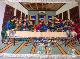 last supper Persian carpet 20% silk