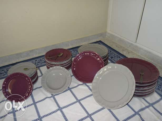 Set of grey and purple plates (+50 pcs)