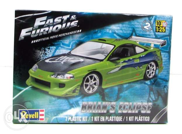 1/25 Mitshubishi eclipse Fast and furious edition scale model unbuilt المرفأ -  1