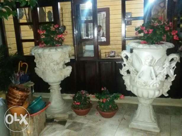 5 vases, hand made, imported from italy, high quality انطلياس -  1