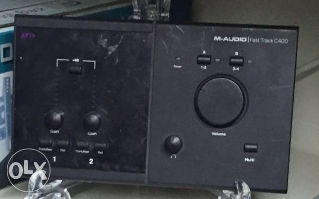 M-audio fast track c-400 sound card 199$