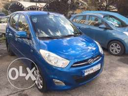 hyundai i10 model 2012 color blue full option