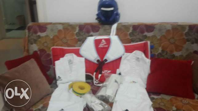 Taekwondo suits+ protection gear+ boxing bag