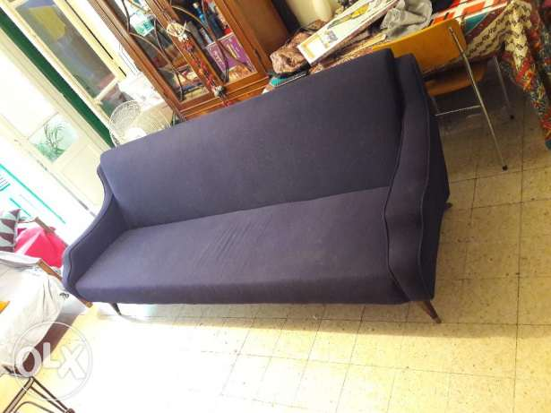 vintage couch renovated