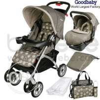 Brand new goodbaby stroller with carseat red color 150$ instead of 280