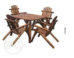 Table and 4 chairs/WOOD