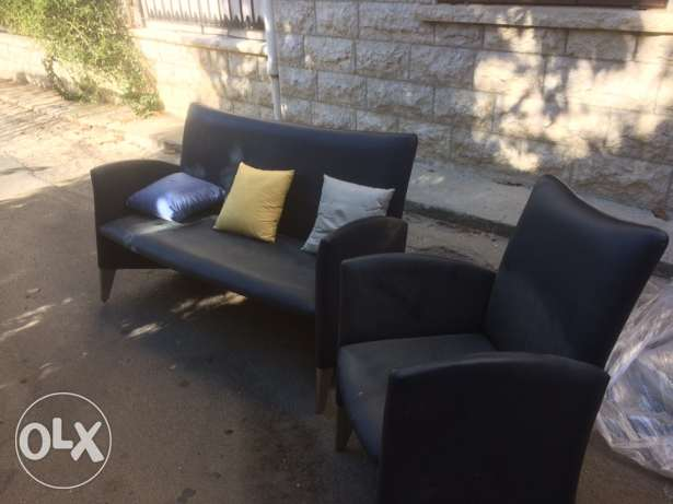 leather sofa and feauteuil الشوف -  5