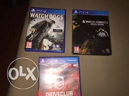 3 cd's ps4 for sale