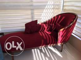 Canape/Fauteuil/Couch Red Bordeaux