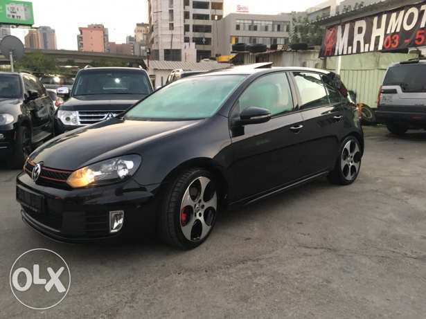 VW Golf VI GTI 2012 Black Fully Loaded in Excellent Condition! بوشرية -  7