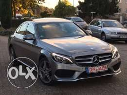 Mercedes C180 AMG-LINE 2015 grey on black, GERMAN !