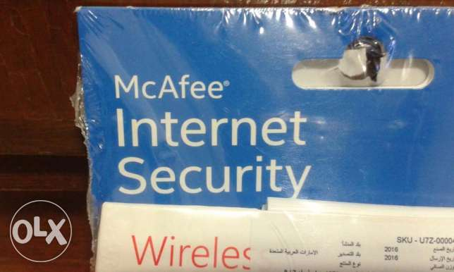 2in 1 McAfee® Internet Security & microsoft wireless mobile mouse حازمية -  2