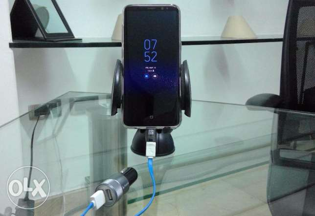 Mobile Car Cradle + Car Charger 2 USBs