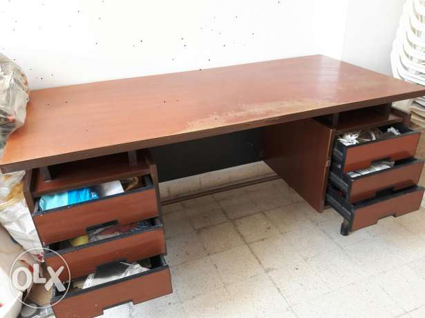 Wooden desk - made in Italy
