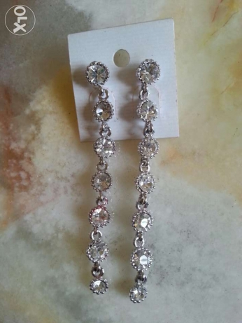 Long wedding earrings