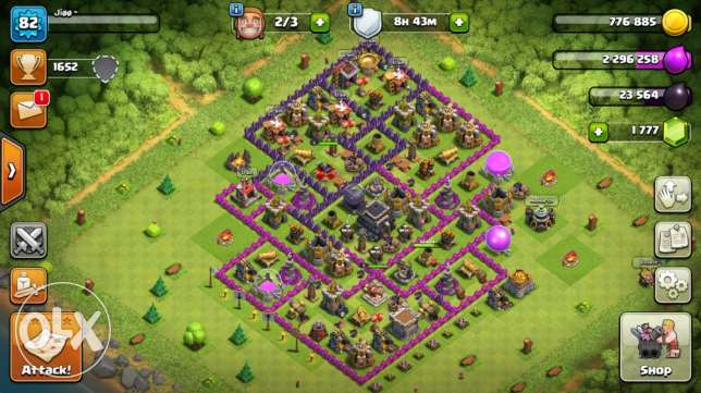 clash of clans ارض