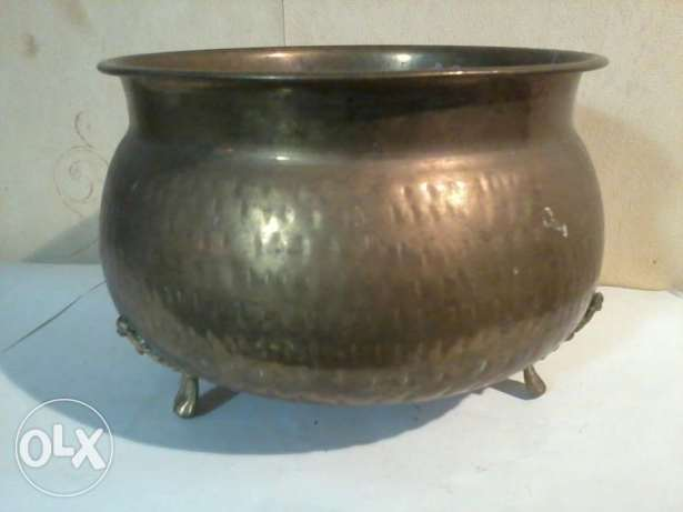 Old heavy copper bowl, from Germany, 25cm