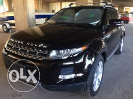 range rover evoque pure premium black/tan leather