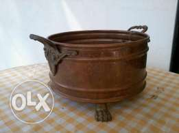 Old pot, red copper from Germany, 30x20 cm, 20$