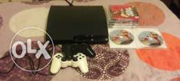 Ps3 500gb whith 2 controllers and 5 games in good condition