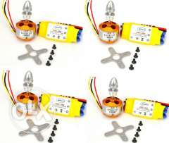 1000KV Brushless Motor + 30A ESC for Multicopter 450 X525