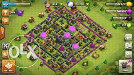Iphone 5 + COC base town hall 9 max
