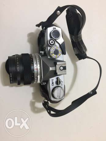 Olympus OM-1 SLR 1970's Camera with 50mm