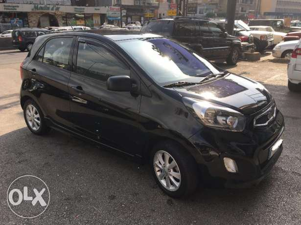 Kia Picanto 2012-Black-Like new غازير -  3