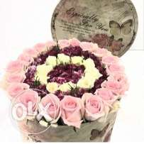 box of roses and flowers for 50,000 l.l