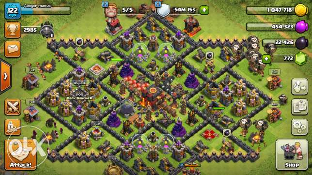 clash of clans id sell. 10 max only 50 $ doller