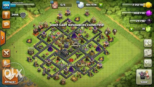 Ard clash of clans town hall 9 for sale