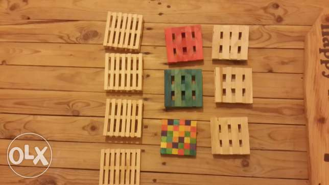 Pallet style coasters
