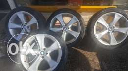 Used Original Rims and Bridgestone RUNFLAT Tires - BMW