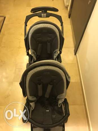 Peg-Perego Twins stroller , Car seats and Isofix base
