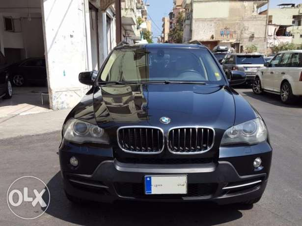 BMW X5 3.0-Mod:2007-Black/Beige Leather-Panoramic-7 Seats-Clean Carfax