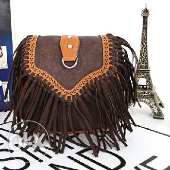 Leather fringed tassel handbag (Free delivery)