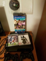 Ps3 console + playstation Move set for tennis and other games