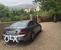 c class coupe grey with red interior leather