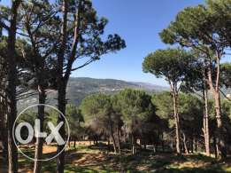 Land for sale in Broumana with mountain view