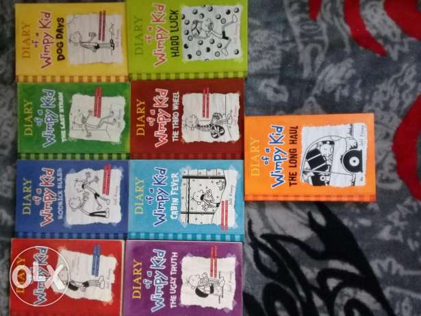 Diary of a wimpy kid books 1 to 9 ( PRICE NEGOTIABLE )