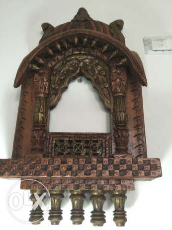 solid wood frame with copper