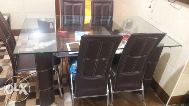 Kitchen table with 6 chaires حارة الفوقا -  1